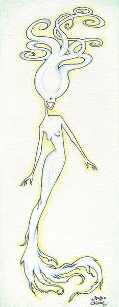 Angus Oblong's Ghost Lady Art Prints.