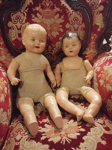 Set of Posessed Dolls that walk around your house at night.