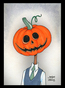 Angus Oblong's Pumpkin Head Collection of Art Prints.