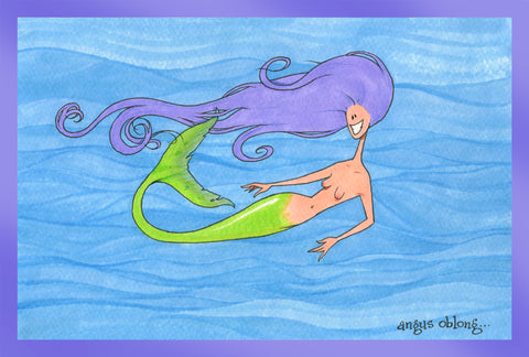 Mermaid Purple Art Print.