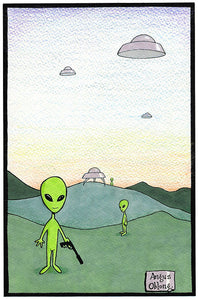 Some Aliens Art Print.