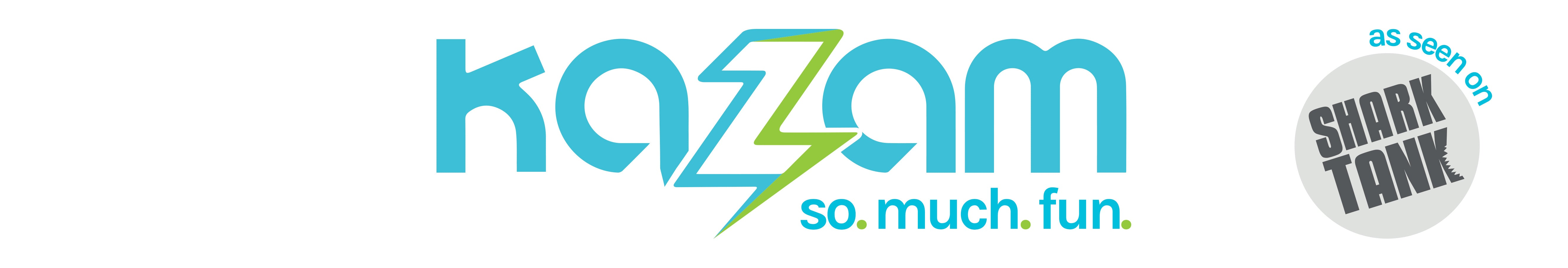Kazam - so. much. fun. logo - As Seen on SharkTank!