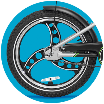 Oversized Smooth Air Tire and Freewheel
