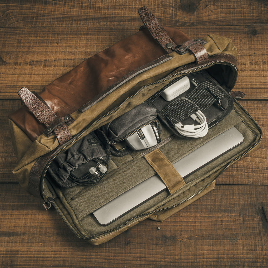 Wotancraft - Lightning Rider Leather Sling Bag | 12L