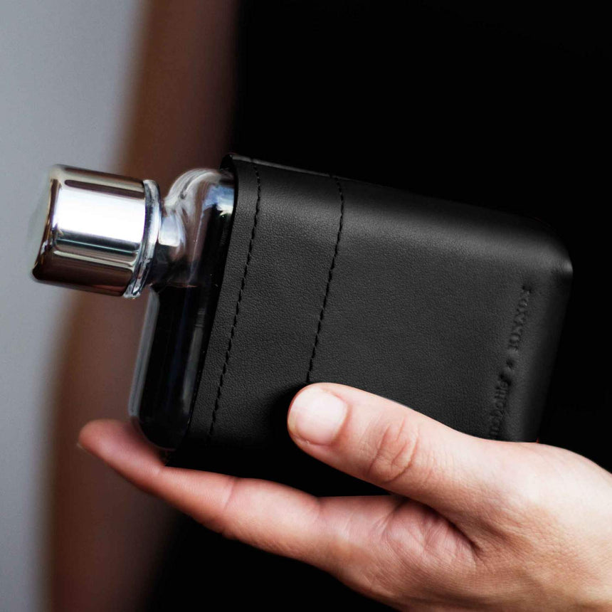 Memobottle - A7 Leather Sleeve | Black - FEVERGUY