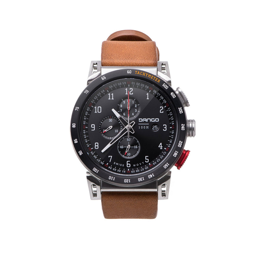 DANGO - CR-01 - Chrono Watch | Horween Leather Straps