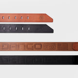 Dango - Leather Belts - Jet Black Leather