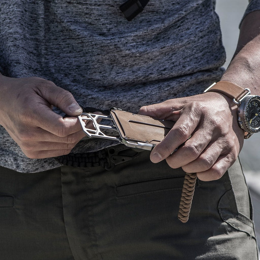 DANGO - M1 Maverick Tactical Wallet | Single Pocket Rawhide