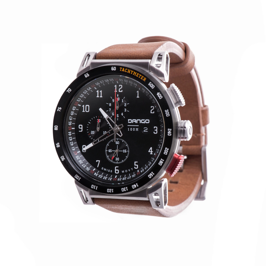DANGO - CR-01 - Chrono Watch | Horween Leather Straps - FEVERGUY