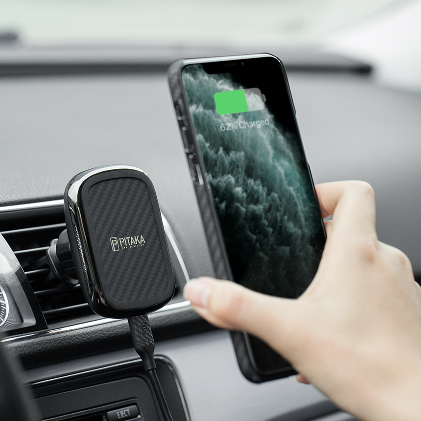 PITAKA - MagEZ Mount Qi Car Charger