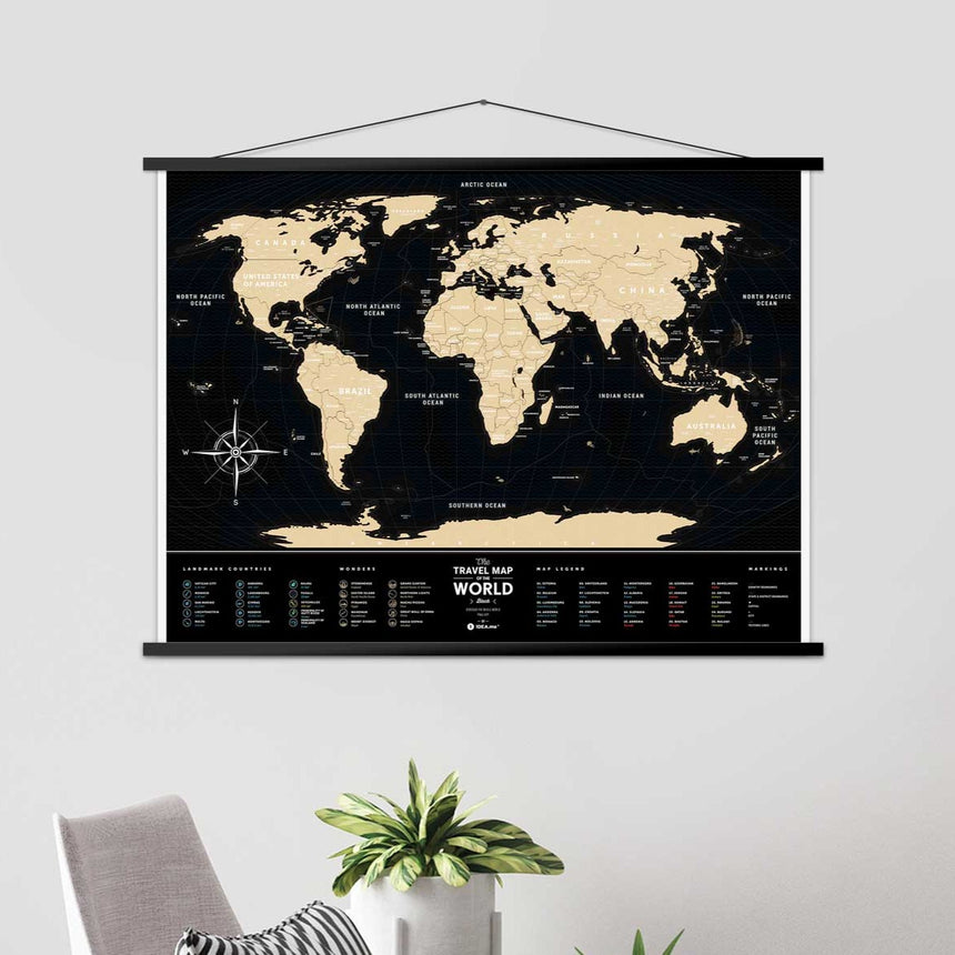 1DEA.ME - Travel Map® | Black World