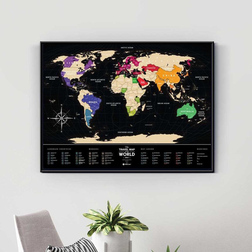 1DEA.ME - Travel Map® | Black World - FEVERGUY