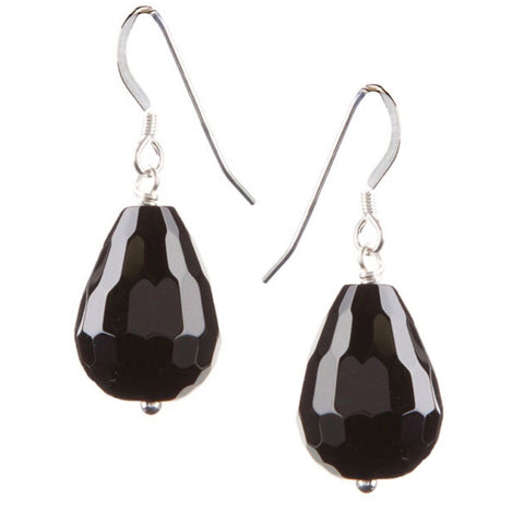 Onyx Briolette drop earrings