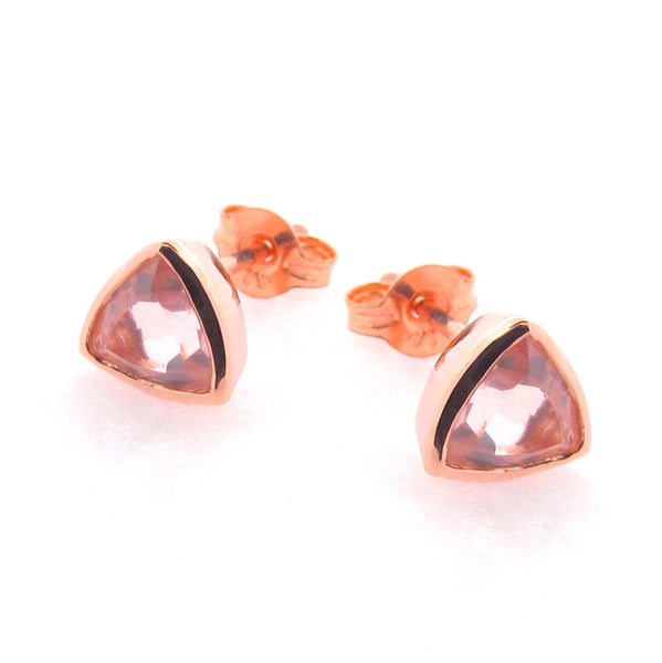 Rose Gold 'Trinity' Stud Earrings
