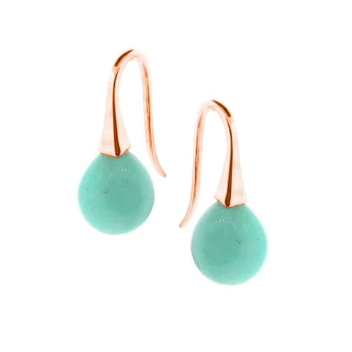 Rose Gold Small Amazonite 'ShortDrop' earrings