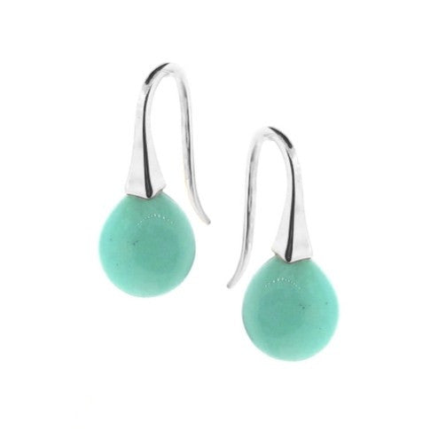 Silver Small Amazonite 'ShortDrop' earrings