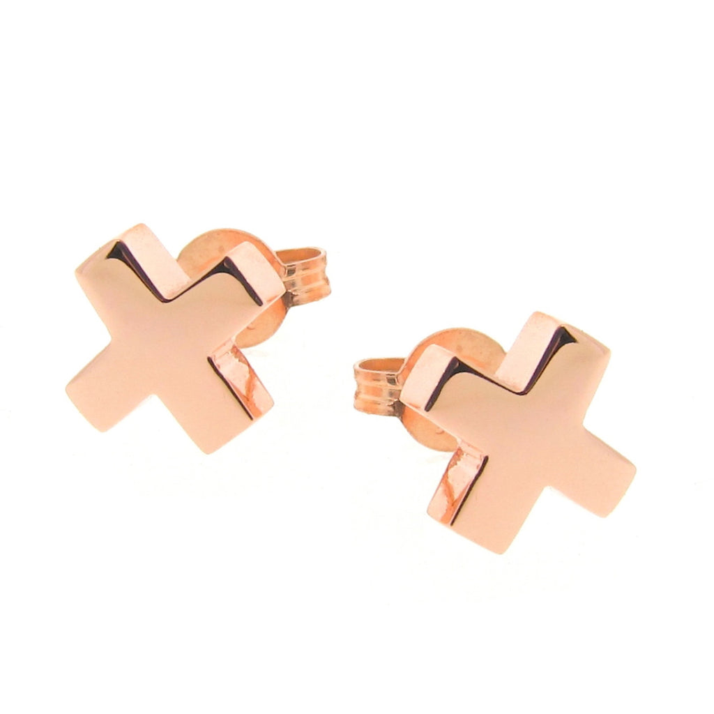 Rose Gold 'Baby Kiss' Stud Earrings