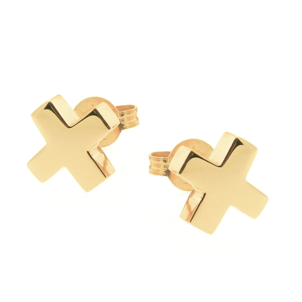 Yellow Gold Baby Kiss Stud Earrings