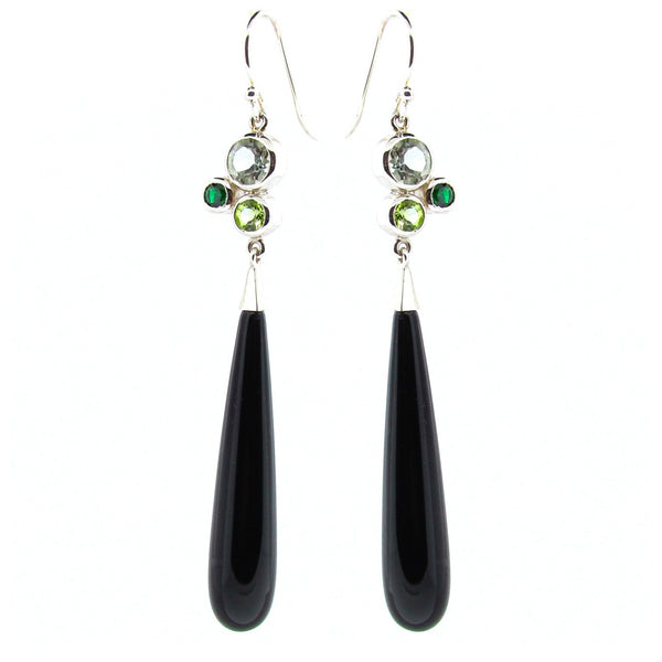 Sterling Silver 'Bubble Drop' earrings