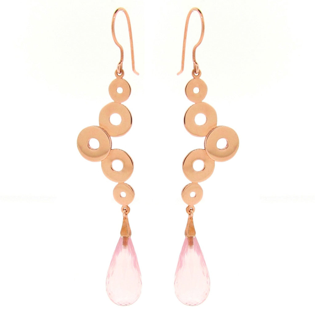 Rose Gold 'Dancing Discs' earrings
