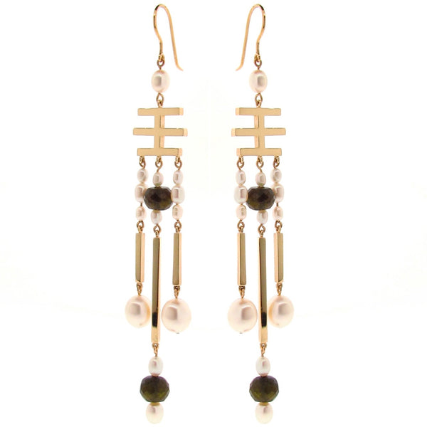 Yellow Gold 'China' Earrings