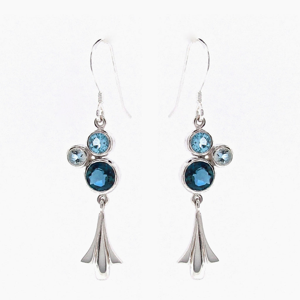 Sterling Silver 'Tulip Bubble' Earrings