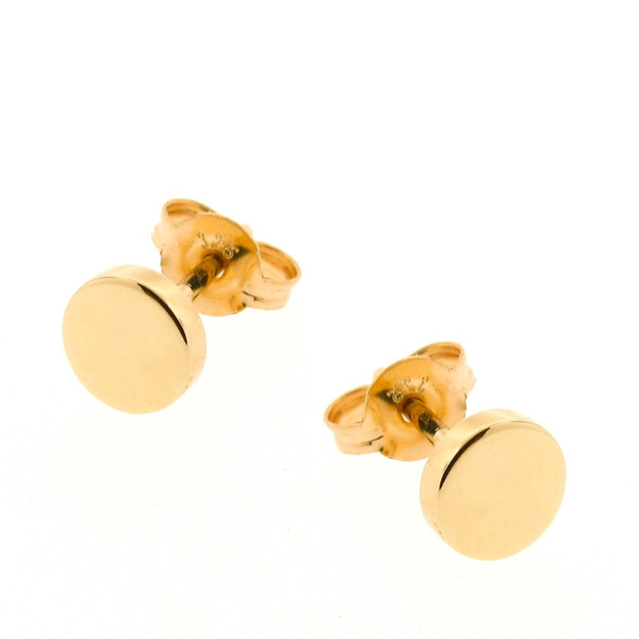 Yellow Gold 'Eclipse' stud Earrings