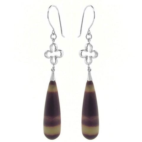 Silver Rainbow Jasper 'Luck' Earrings