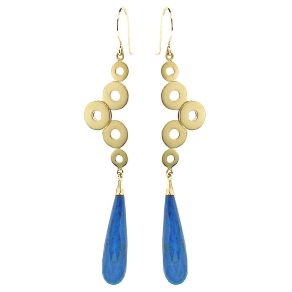 Yellow Gold 'Dancing Discs' earrings