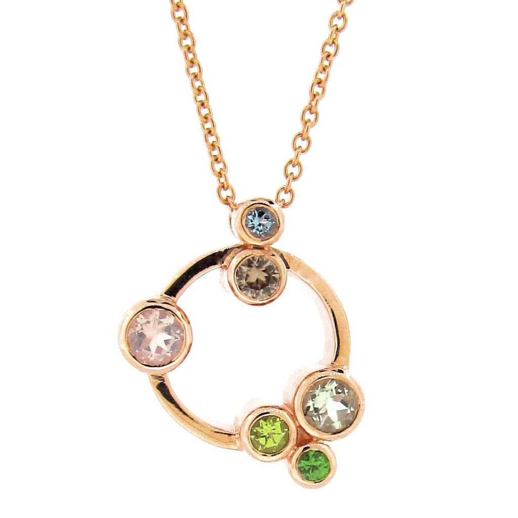 Rose Gold Circle 'Bubbles' Pendant