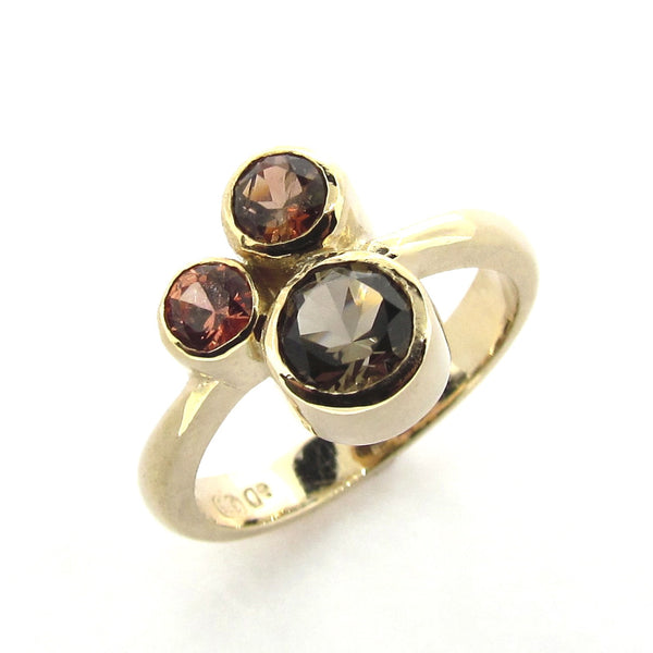 Yellow Gold  'Bubbles' Ring