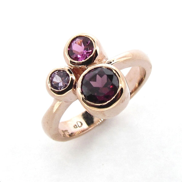 Rose Gold Pink 'Bubbles' Ring