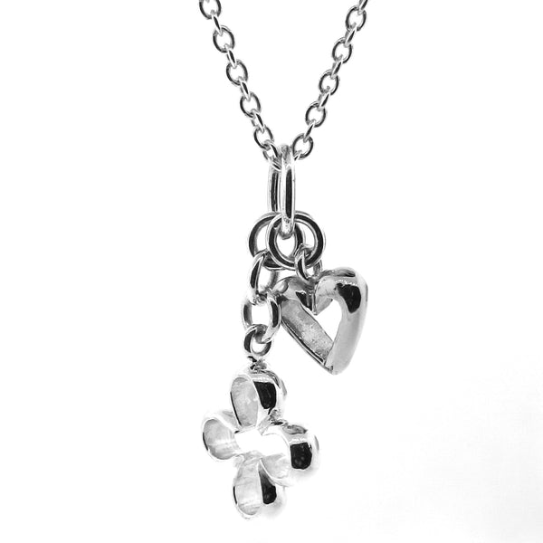 Sterling Silver 'Love & Luck' pendant