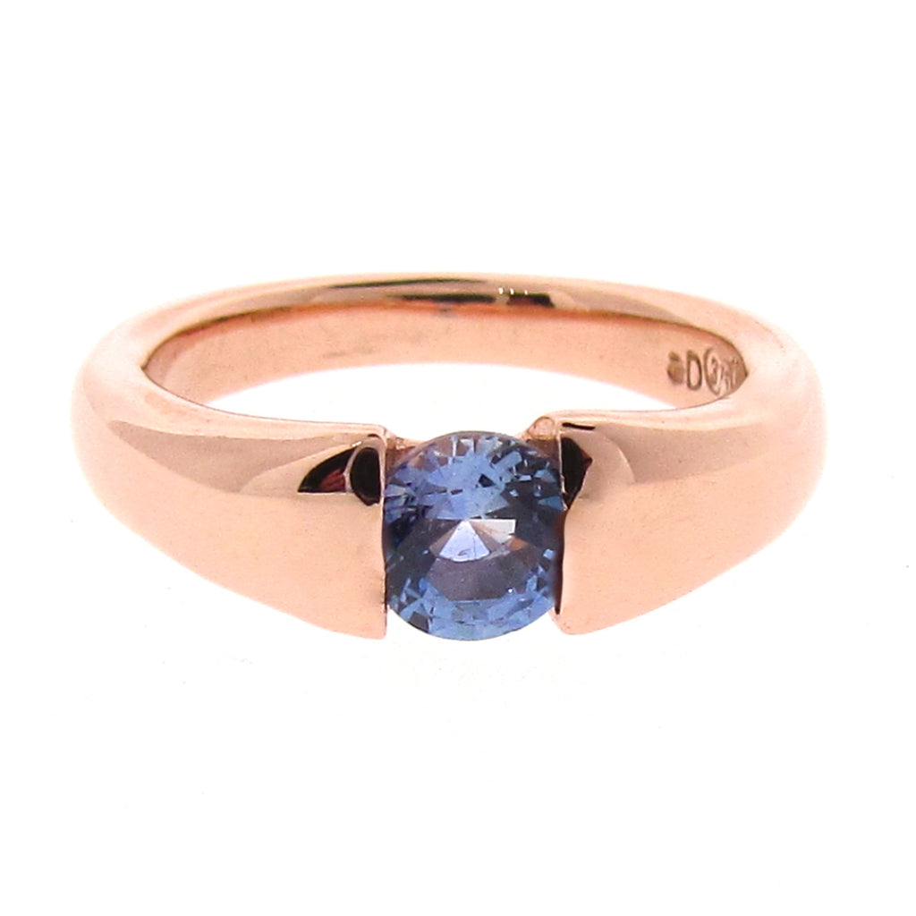 Rose Gold Ceylon Sapphire 'Comfort' Engagement Ring