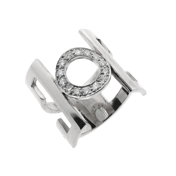 White Gold Diamond 'Deco-China' Ring