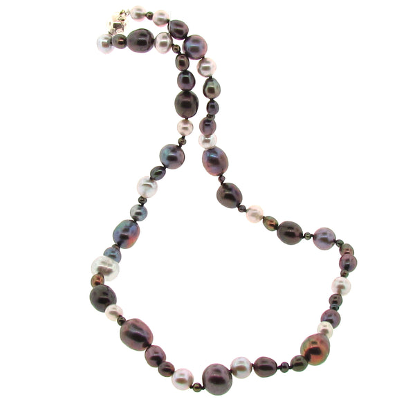Black Freshwater Pearl Tears from the Moon Necklace