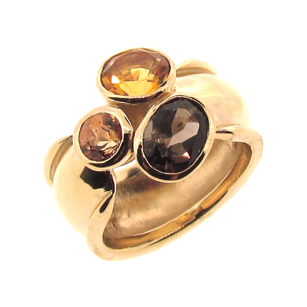 Yellow Gold Autumn Trinity Ring