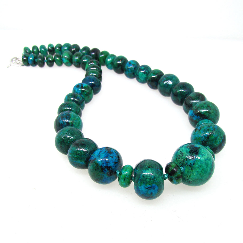 Chrysocolla necklace