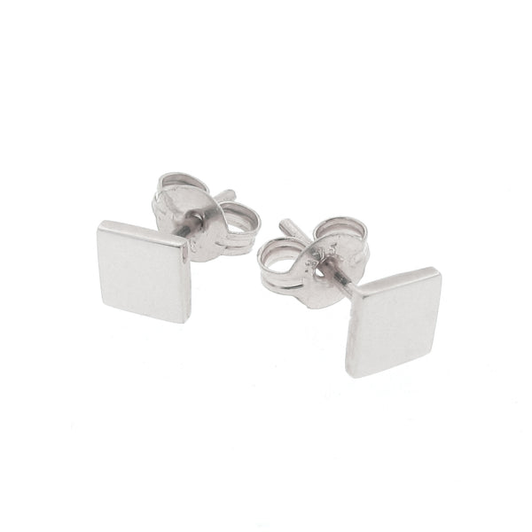 Sterling Silver Ray of Light Square stud Earrings