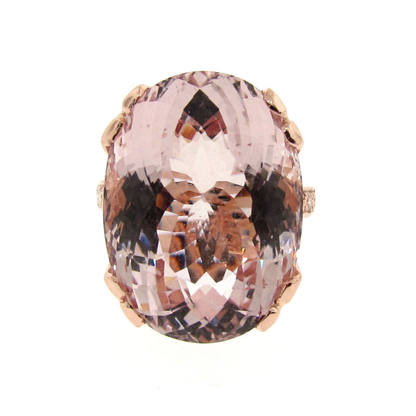 Rose gold Regal Crown Morganite Ring