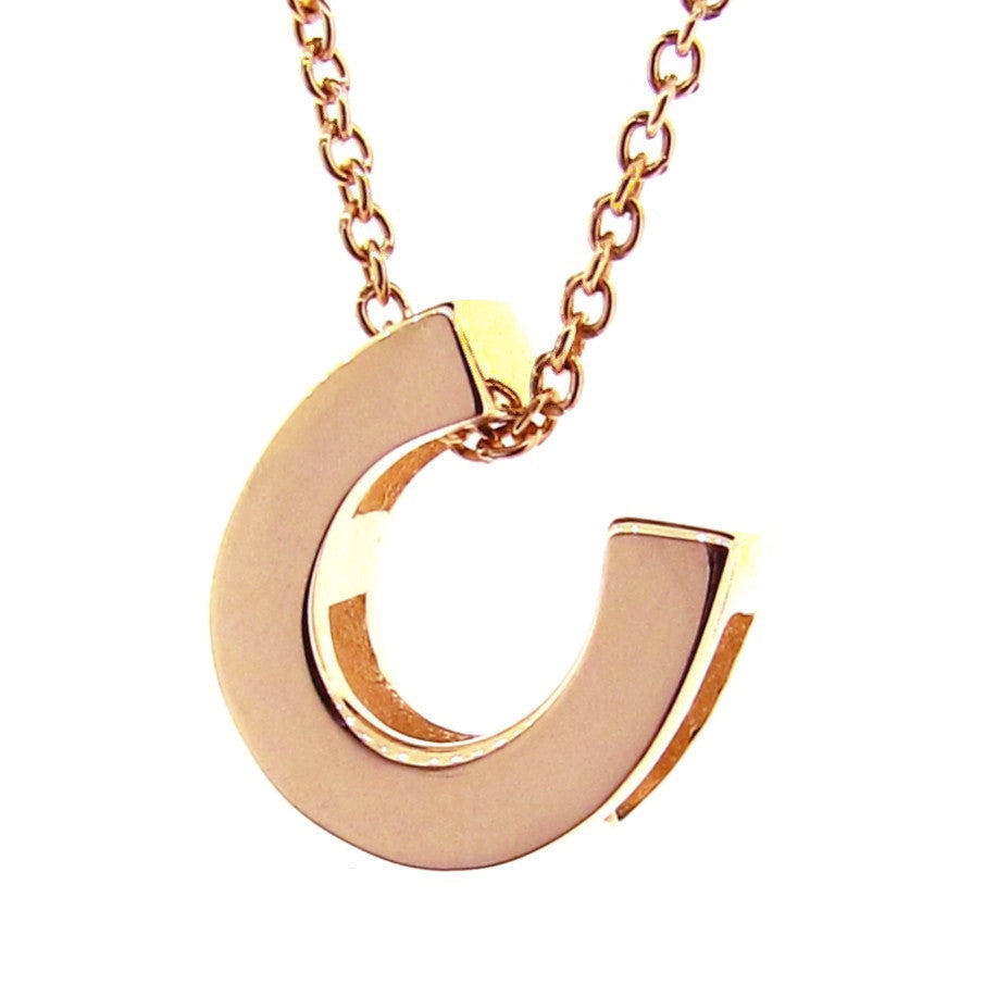 Rose Gold Horseshoe Pendant
