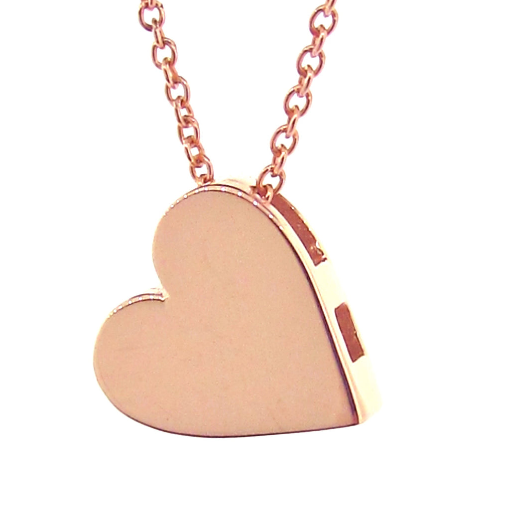 Rose Gold Medium Heart Pendant