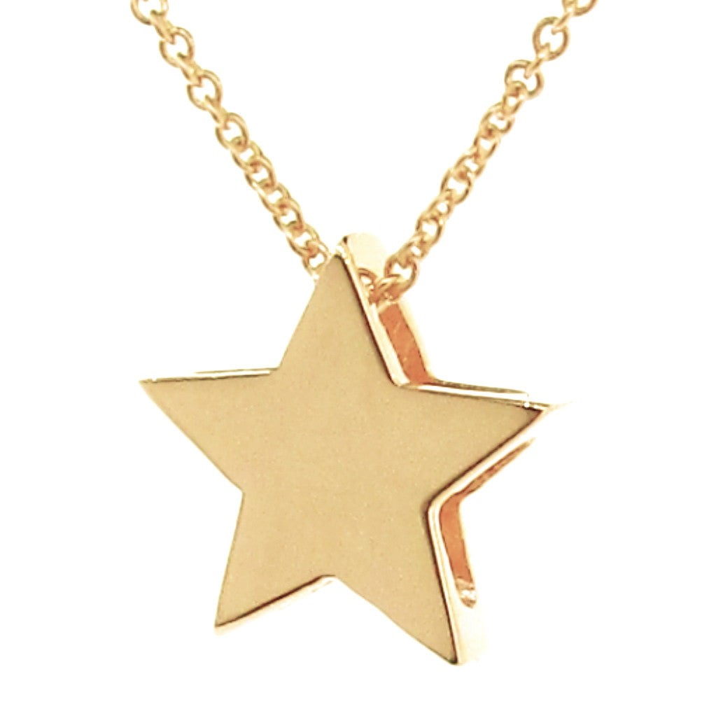 Yellow Gold 'Medium Star' Pendant
