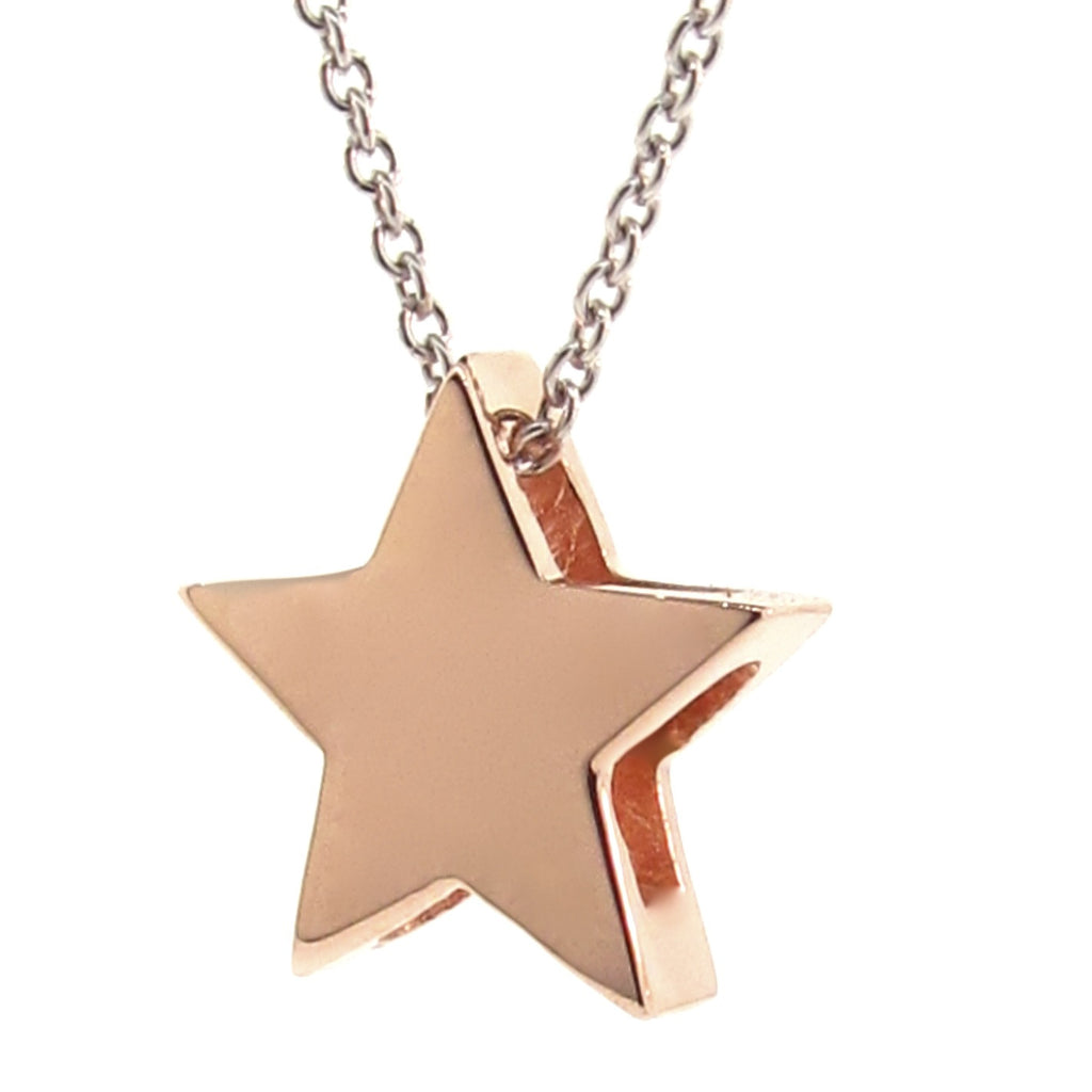 Rose Gold 'Medium Star' and Silver Necklace