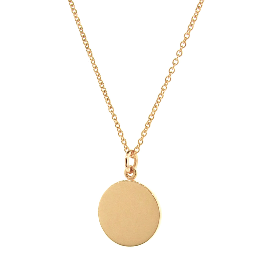 Yellow Gold Medium 'Eclipse' Pendant