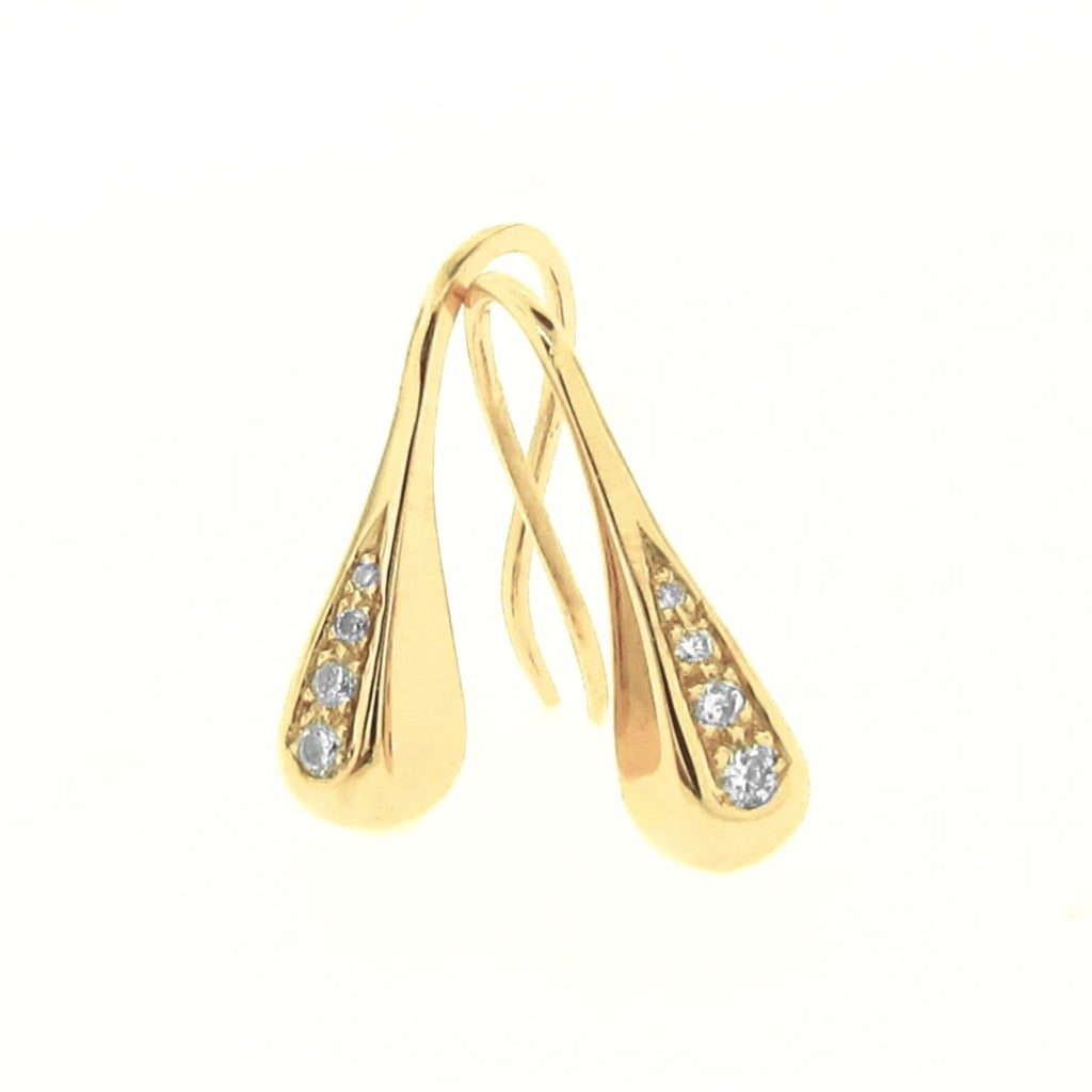Yellow Gold Diamond Droplet earrings