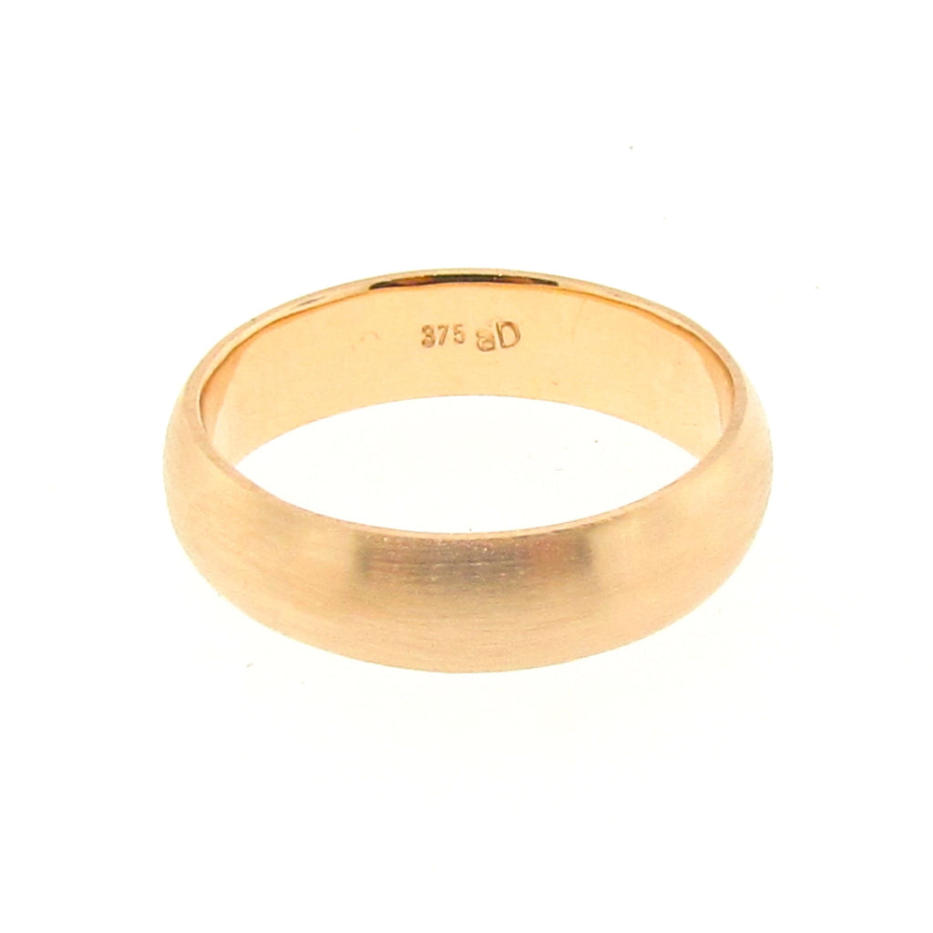 9ct Yellow Gold Mens Wedding Band