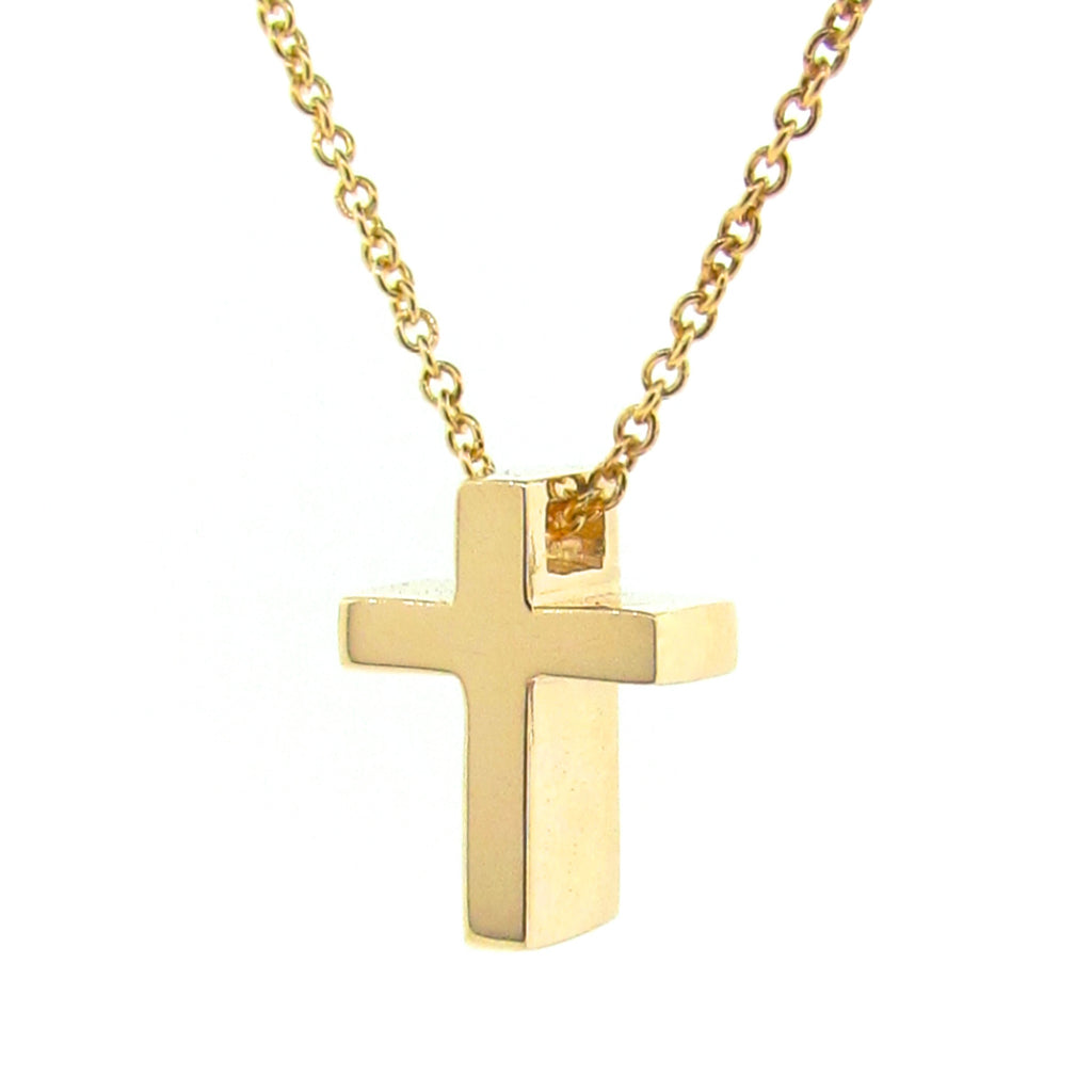 Yellow Gold Small Cross Pendant