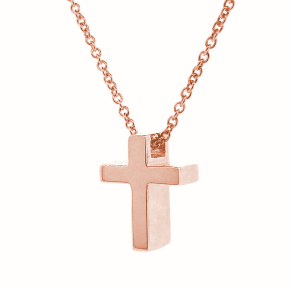 Rose Gold Small Cross Pendant