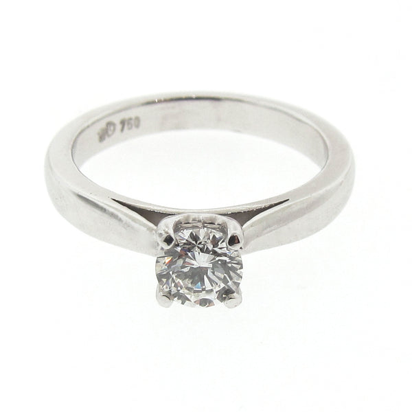 18ct White Gold Diamond Cathedral Engagement Ring
